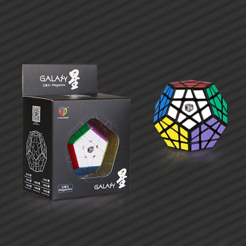 Qiyi Galaxy Five Corners Brain Teaser Magic Cube Speed Twisty Puzzle Toy - Black