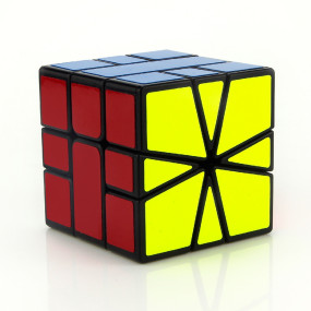 YJ8326 Square One SQ 3X3 Speed Cube Magic Cube 55mm - Black Body
