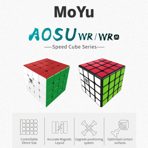 Upgrade MoYu AoSu WR Magnetic 4x4 Magic Cube