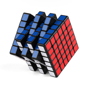 YJ8264 GTS M Magnetic Version 6x6 Magic Cube for Brain Traning - Black