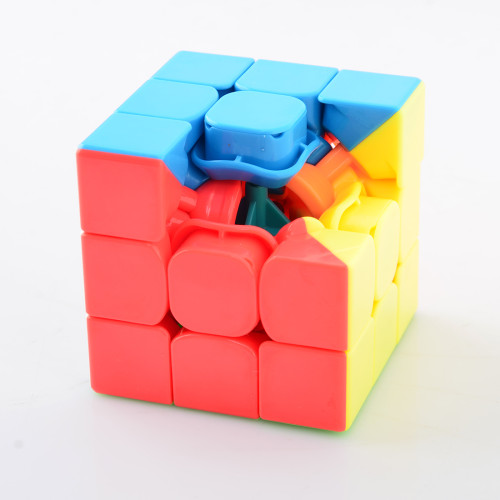 YJ8250 WeiLong GTS2 3x3x3 Magic Cube Puzzle Toy - Black