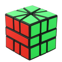 CubeTwist Square Ⅰ SQ1 3x3x3 Speed Cube Sector Magic Cube Puzzle Toy - Red + Green
