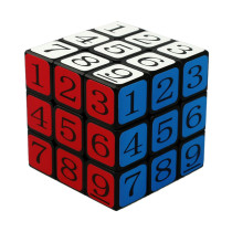 CubeTwist 3x3x3 Puzzle Speed Sudoku Number Magic Cube Educational Puzzle Toy - Black (5.7cm)