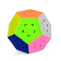 Yuxin Smooth Durable Speed Five Corners Cube 3x3 Dodecahedron Puzzle Cube - Colorful