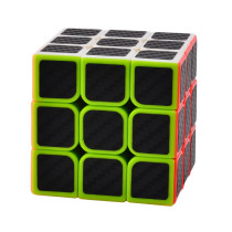 3x3x3 Speed Magic Cube 6-Color Body and Black Sticker Puzzle