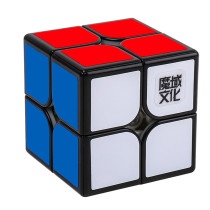 Upgarde+Lubricants and Magnetic MoYu WeiPo WR M 2x2 Magic Cube - Black