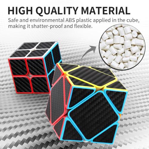 MFJS Carbon Fiber Meilong Skewcube Magic Cube