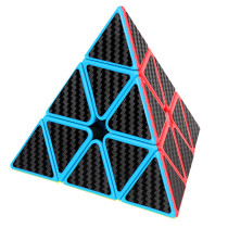 MFJS Carbon Fiber Meilong Magic Cube Pyraminxcube