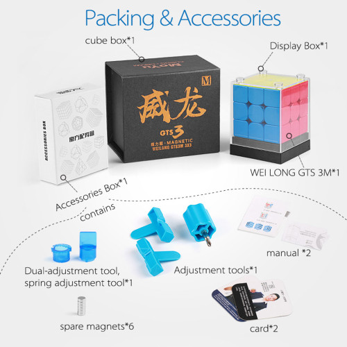 MoYu WeiLong GTS3M 3x3 Magic Cube- Stickerless
