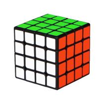 Qiyi 4x4 Magnetic Magic Cube - Black/Stickerless