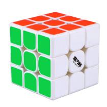 Upgrade QiYi Thunder V3 3x3 Magetic Magic Cube - White