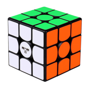 Upgrade Qiyi Mofangge Wuwei 3x3 Magnetic Magic Cube - Black/Stickerless