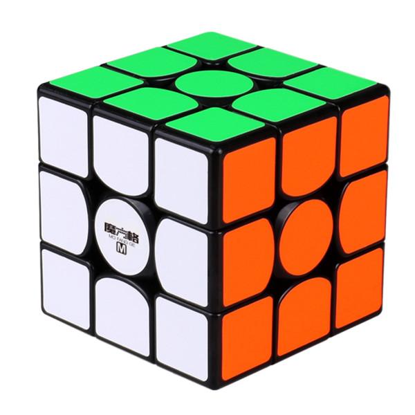 Upgrade Qiyi Mofangge Wuwei 3x3 Magnetic Magic Cube - Black/Stickerless