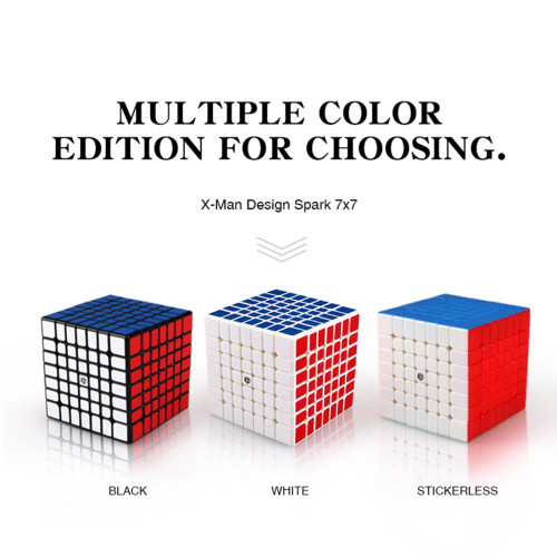 Upgrade+Premium LubricantsQiYi Mofangge Spark 7x7 Magic Cube(Magnetic)