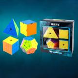 MoYu MFJS Meilong Carbon Fiber/Non-Cubic Magic Cube Set - Stickerless