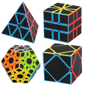 MoYu MFJS Meilong Carbon Fiber/Non-Cubic Magic Cube Set - Stickerless
