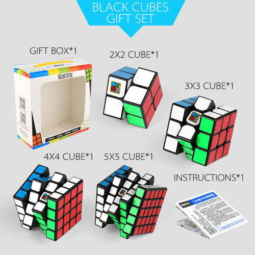 MF9301 Cubing Classroom 2x2x2 3x3x3 4x4x4 5x5x5 Magic Cube with Gift Box Packaging - Black