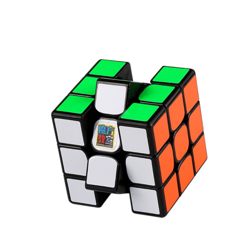 MFJS RS3 3x3 Magic Cube - Black/White/Stickerless