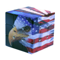 3x3 American National Flag Eagle Pattern Magic Cube Speed Cube