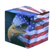 3x3 American National Flag Eagle Pattern Magic Cube