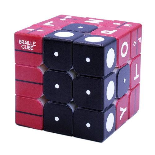 3x3 Braille Number Relief Effect Magic Cube