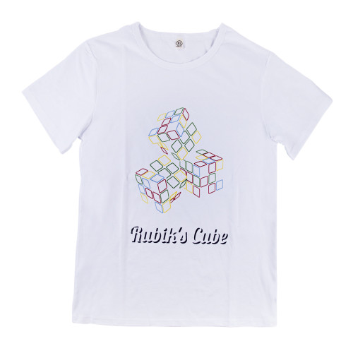 Summer Short Sleeve Clothes Magic Cube Printed Cotton T-shirt  S/M/L