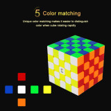 Yuxin Huanglong 5x5 M Magic Cube - Six Colors Fluorescent