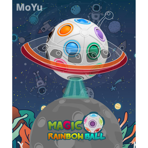 MY8721 8-holes Spheric Rainbow Magic Cube