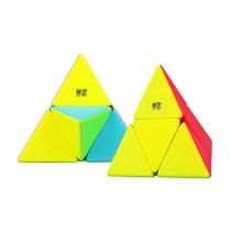 Qiyi 2x2x2 Pyramid Magic Cube for Brain Trainning - Colorful