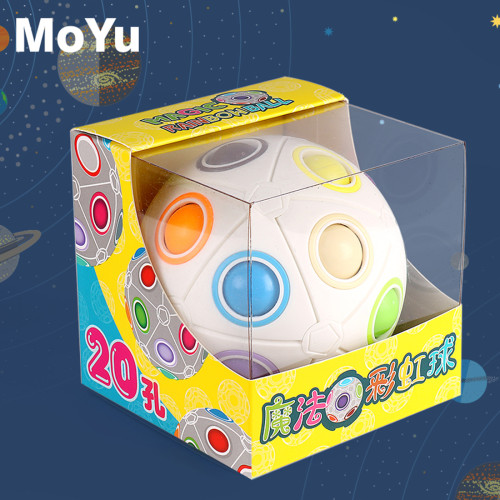 MY8723 20-holes Spheric Rainbow Magic Cube Puzzle Twist Ball Toy Brain Teaser Kids Gift
