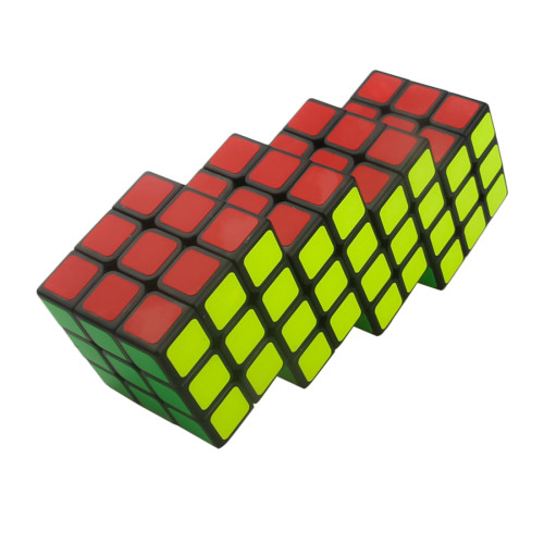 Cube Twist Quadruple 6x6 Conjoined Magic Cube - Black