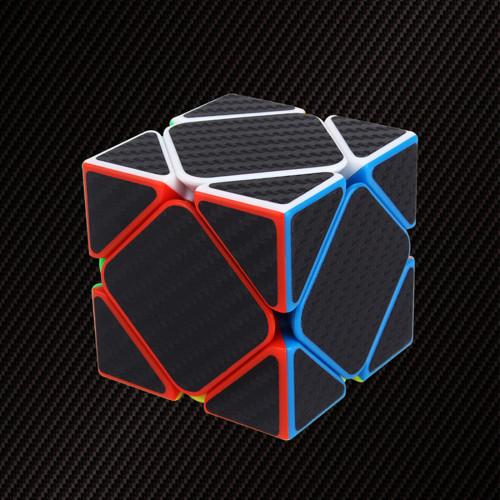 Carbon Fiber Skewcube Magic Cube