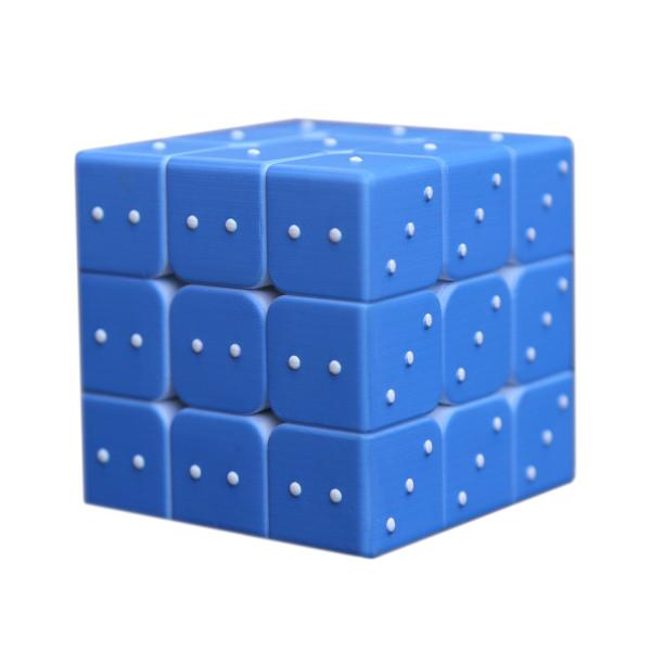 Fangmo 3D Embossed Blind Fingerprint 3x3x3 Magic Cube