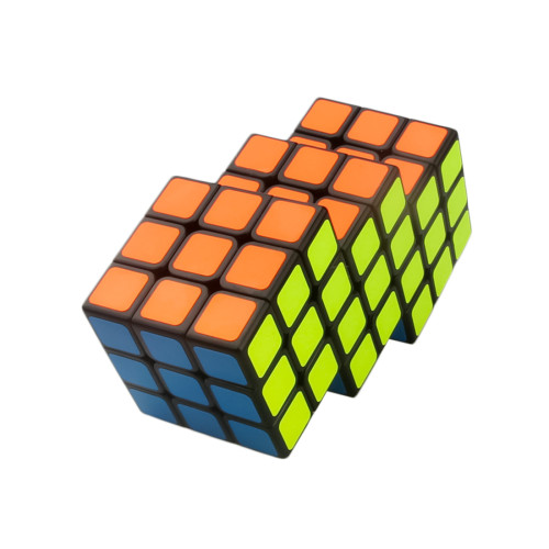 Cube Twist Triple 6x6 Conjoined Magic Cube - Black