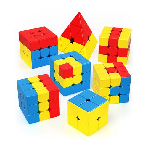 MFJS 3x3 Bump Teaching Puzzle Series Magic Cube - Stickerless
