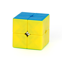 MFJS 2x2 Pudding Teaching Puzzle Series Magic Cube - Stickerless