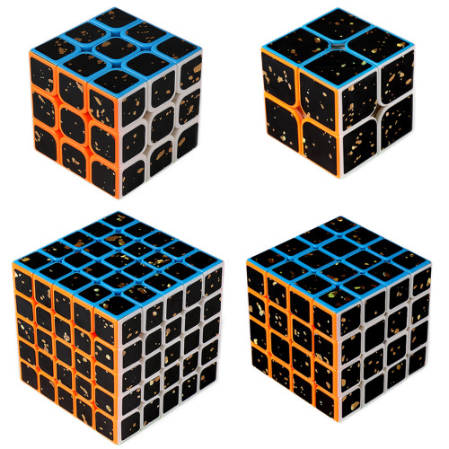 MF9306 Splash Gold Series 3x3 Magic Cube Set With Gift Box
