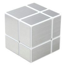 Shengshou 2X2 Mirror Blocks Magic Cube(Silver Wiredrawing) - White Base