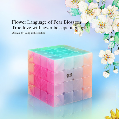 Qiyi Qiyuan S 4x4 Magic Cube Educational Toys for Brain Trainning - Jelly Color