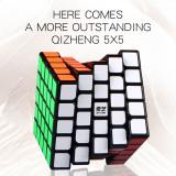 QiYi Mofangge Qizheng 5x5 Magic Cube - White/Black