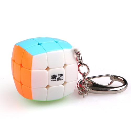 Qiyi 3x3x3 Magic Cube Puzzle Toy with Key Ring