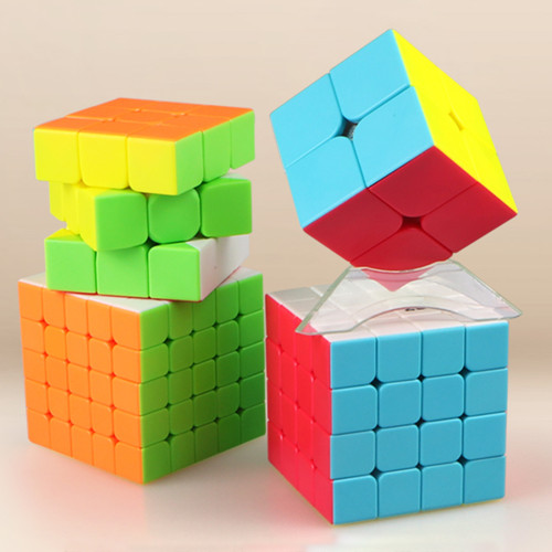 Qiyi 2x2 3x3 4x4 5x5 Magic Cube Set Educational Toys for Brain Trainning - Colorful