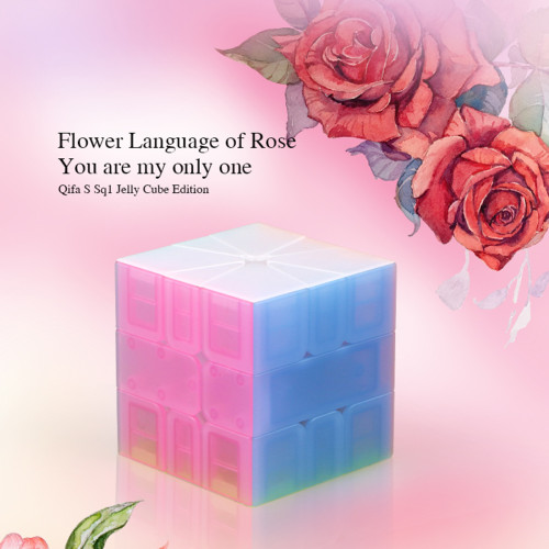 Qiyi Qifa S SQ-1 Magic Cube Educational Toys for Brain Trainning - Jelly Color
