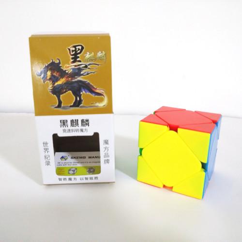 YuXin Black Kirin Skewbcube Magic Cube - Stickerless
