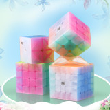 Qiyi Qiming Pyraminxcube Magic Cube - Jelly Color