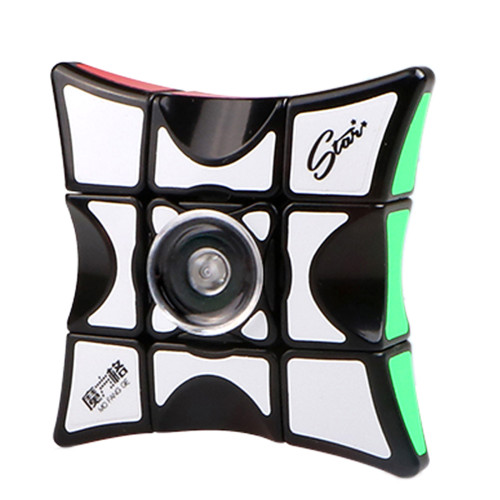 QiYi Mofangge Fingertip Magic Cube Puzzle Toy for Competition - Black