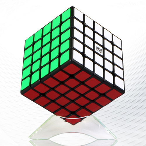 QiYi Mofangge Qizheng 5x5 Magic Cube - White/Black