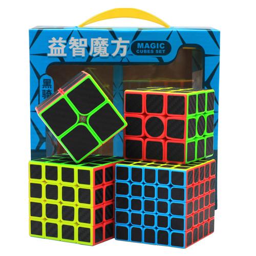 4Pcs Zcube Carbon Fiber Fluorescence Magic Cube Set