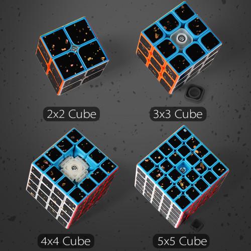 MF9306 Splash Gold Series 3x3 Magic Cube Set With Gift Box