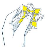 QiYi Mofangge Spinner Magic Cube - Blue/Pink
